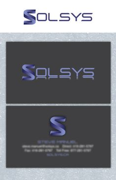 Solsys Logo and Business Card designed by Fusion Studios Inc. Logo Creation, Corporate Identity, Business Card Design, Read More, Toronto, Studios, Logo Design, Design Inspiration, Branding