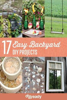 17 Easy DIY Backyard Project Ideas | Easy, Simple and Cheap Backyard Ideas You Must Try This Summer! Check it out at  http://diyready.com/easy-backyard-projects/