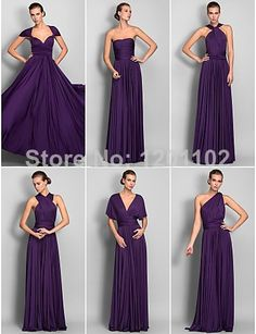 2014 New Arrival Free Shipping A-Line Sheath/Column Floor-length Jersey Convertible Dress Bridesmaid Dresses Vestidos De Fiesta