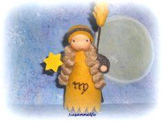 Sternzeichen Jungfrau  Jahreszeitentisch von Susannelfes Blumenkinder  auf DaWanda.com