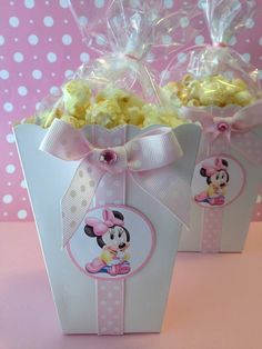 Popcorn Boxes Favor Popcorn Boxes Decorated by designsbyemilys