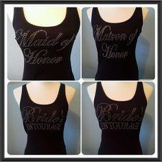 11 Bride's entourage tank top shirts.Bridesmaid by Bridalmefancy, $170.00