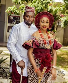 Nigerian Wedding Dresses Traditional, Traditional Wedding Attire, African Traditional Dresses, Couples African Outfits, Latest African Fashion Dresses, African Dresses For Women, African Wedding Attire, African Attire, Igbo Bride