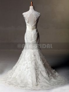 1950s Inspired Lace Wedding Dress - Connie