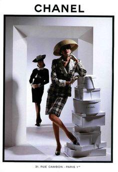 Vintage Chanel suits, 1988.