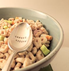 Cereal Killer - cereal spoon. Who doesn't love a bowl of cereal ?!