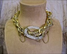 Venus in Chains COLLAR Vintage Assemblage One of a by MorticiaSnow, $98.00