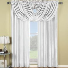 R-T Soho Waterfall Window Treatment- Rod Pocket- WhiteSoho Waterfall Window Treatment- WhiteThe Soho Waterfall Window Treatment simplifies the casual and contemporary styling of Home Decor. The highli