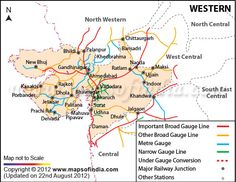Indian Railway Map Of India.Northern Railway Zone Map My India Pinterest India Map Map