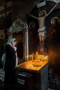 Light the candle and pray Orthodox Church