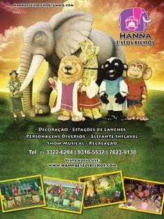 Revista: Inesquecível Festa Infantil & Teen  Arte: Jones Rodrigues  Cliente: Hanna e seus bichos  Agência: 3R Studio Comunicação  Ano: 2010