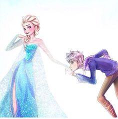 Frozen's Elsa and Rise of the Guardians' Jack Frost Film Disney, Arte Disney, Disney Magic, Disney Frozen, Disney Art, Disney Ships, Frozen Anime, Elsa Frozen, Dreamworks Animation