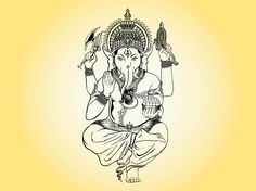 Dancing Ganesha Illustration Ganesha Illustration