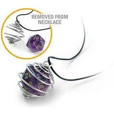 ThinkGeek :: d20 Spiral Necklace
