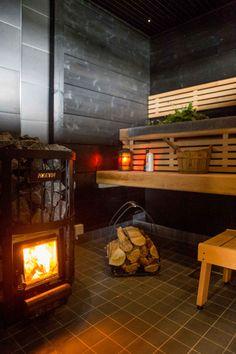 Diy Sauna, Outdoor Sauna, Sauna Design, Finnish Sauna, Summer Cabins, Spa Rooms, Sauna Room, Infrared Sauna, Scandinavian Home