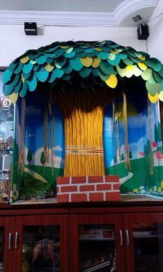 Thermocol craft make peacock model v babji hyderabad for Room decor ulhasnagar