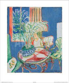 Petit Interieur en Bleu, c.1947 Art Print by Henri Matisse at Art.com
