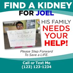 Kidney Donor, Save My Life, Text Me, Need You, My Dad, Dads, Campaign, Content, Medium