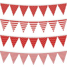 Free Printable for Party Red Bunting.