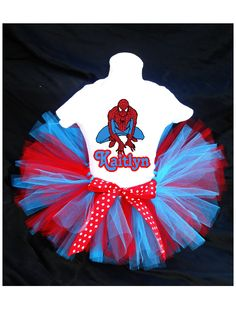 Spiderman Birthday Outfit Costume by PrettyAsAPrincess2 on Etsy, $28.99