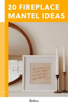 Should you hang a giant piece of art? A mirror? Go candle-crazy? Something else entirely?! These fireplace mantel ideas are all the inspo you need to finally decide what to do with the focal point of your room. #fireplace #decor #mantel