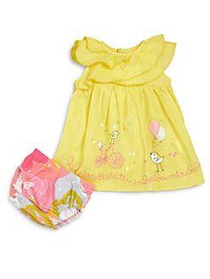 Catimin Ruffled Bird Dress & Bloomers
