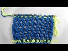 Knooking - Mesh Pattern (IN GERMAN - If you are familiar with knooking, you can watch this video to learn this stitch... The video is very good... Deb)
