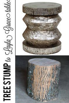 Tree Stump to Layla Grace Side Table