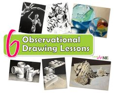 6 Observational Drawing Skills Art Lessons - Create Art with ME