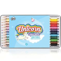 Our amazing Unicorn Sketch + Sparkle Pencils will add a sprinkle of Unicorn magic to your drawings! These fun glittery barreled pencils are a great gift!