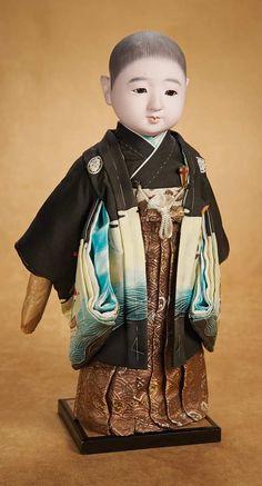 Kaleidoscope: 466 Japanese Paper Mache Ichimatsu Doll in Original Costume