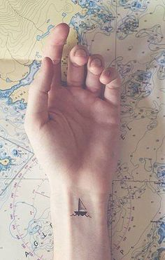 Travel tattoo - boat