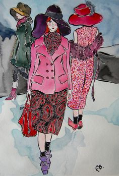 Marc Jacobs FW12 illustration, via Emily Illustrated