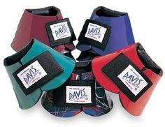 Davis Bell Boots, No Turn, Medium, White by Davis. $24.95. The patented design features a triple-layer construction which provides protection, comfort & durability that is unmatched. The back of the boot features an inward protruding cushion which conforms to the horse's ankle. This patented feature prevents turning & provides extra protection. Double-locking Velcro® secure closure. Color: White Size: Medium