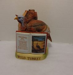 Austin Nichols and Co. Wild Turkey 101 Proof Liquor Bottle Limited Edition Porcelain Series II No. 3 1981 by Bringingpast2Present on Etsy
