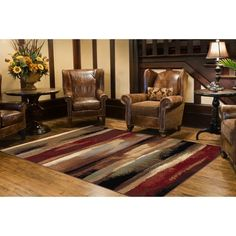 Contemporary Area Rug is sure to add a festive flare to your modern living spaces. The gorgeous design and vivid color palette will please everyone in your home. Join in the fun with this comfortable and stylish rug. Home, Carpet Colors, Rustic Decor, Living Spaces, Rugs, Contemporary Area Rugs, Cabin Style, Gorgeous Design, Rugs In Living Room