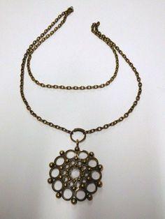 Kalevala Koru, design Kai Lindström, Finland:  Bronze Pendant with Chain #KalevalaKoru