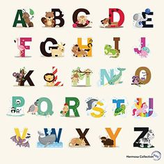 Fun Educational Alphabet With Animals For Baby Nursery And Kids Rooms Wall Decor Easy L Stickers Decals