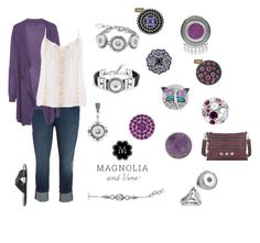 """See the High quality snap jewellery and accessories from Magnolia and Vine. Customisable to ANY STYLE! Check out the whole collection at www.mymagnoliaandvine.ca/ROBBIKIRK/ and contact Roberta Kirk at www.facebook.com/mymagnoliaandvinerobbikirk  """"Magnolia and Vine Purple Passion"""" by magnoliaandvine on Polyvore"""