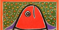 An expression of a woman's joys, sorrows, her stories, beliefs, songs and routine, all encompassed in a canvas with splendid colors, motifs and symbolisms is what a Madhubani or Mithila painting is. So, choose the one that matches your and your beloved's taste the most and decorate your home with a souvenir from the villages of Bihar. #madhubani #painting #mithila #handmade #motifs #symbolism #colours
