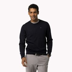 Tommy Hilfiger Premium Cotton Sweater - midnight (Blue) - Tommy Hilfiger Jumpers - main image