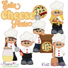 Extra Cheese Please SVG Cutting Files Includes Clipart