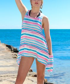 Look at this La Moda Clothing Fuchsia Stripe Tunic - Women on #zulily today!