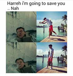 Zayn can't swim tho.