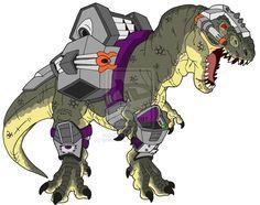Dino-Riders T-Rex by *BenjaminTDickens on deviantART