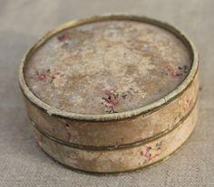 Vintage tattered powder box