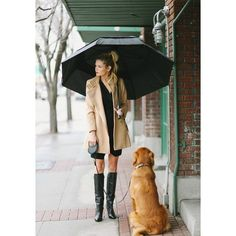 These 12 Rainy-Day Outfit Ideas Prove That Style Is 100% Waterproof ❤ liked on Polyvore featuring people