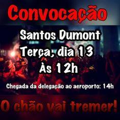 """Convocação para torcedores irem ao aeroporto na próxima terça-feira (Foto: Reprodução Facebook """"Apoio no aeroporto Fla x Palmeiras"""")"""