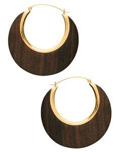 Wood&metal earrings
