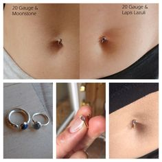 Pebble Cabochon Belly Button Ring | .999 fine silver 14k solid gold fill minimal small dainty body dance jewelry piercings simple petite art by Meliloo on Etsy https://www.etsy.com/listing/175479561/pebble-cabochon-belly-button-ring-999